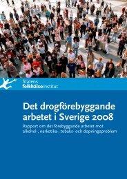 Det drogförebyggande arbetet i Sverige 2008, 5.09 MB - Statens ...