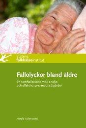 Fallolyckor bland äldre. En samhällsekonomisk analys och effektiva ...