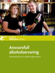 Ansvarsfull alkoholservering. Studentpubarnas utbildningsmaterial