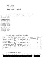 Domar 2012 med referat