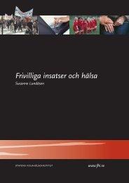 Frivilliga insatser och hälsa - Statens folkhälsoinstitut