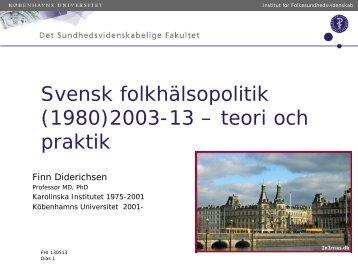 Finn Diderichsen, 258 kB - Statens folkhälsoinstitut