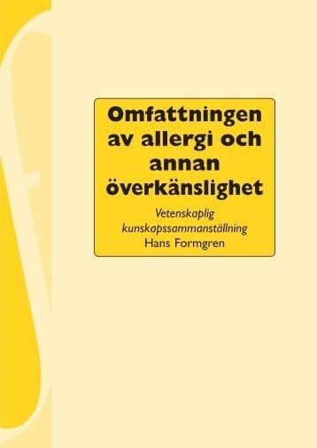Omfattningen av allergi och annan överkänslighet, 234 kB