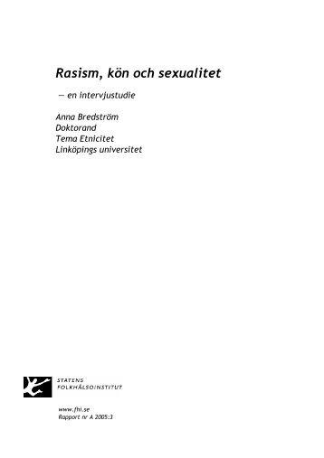 Rasism, kön och sexualitet - Statens folkhälsoinstitut
