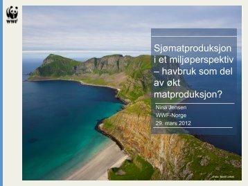 Sjømatproduksjon i et miljøperspektiv – havbruk som del av ... - FHL