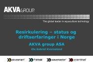 Resirkulering – status og driftserfaringer i Norge - FHL