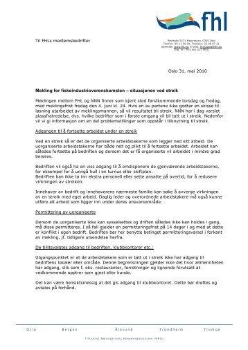 Mekling for fiskeindustrioverenskomsten – situasjonen ved streik - FHL