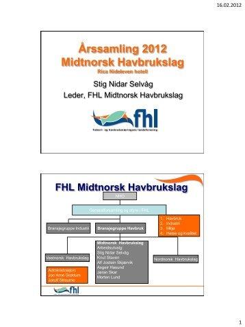 Åpning - FHL