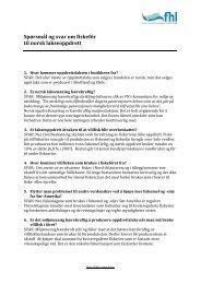 Spørsmål og svar om fiskefôr til norsk lakseoppdrett - FHL
