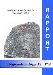Analysar av skjelprøvar frå Rogaland i 2012 - FHL