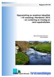 Oppvandring av anadrom laksefisk i 10 vassdrag i Nordland i ... - FHL