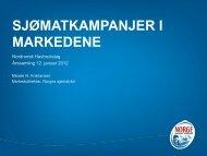 SJØMATKAMPANJER I MARKEDENE - FHL