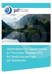Generalplan for bekjempelse av Pancreas Disease (PD) for ... - FHL
