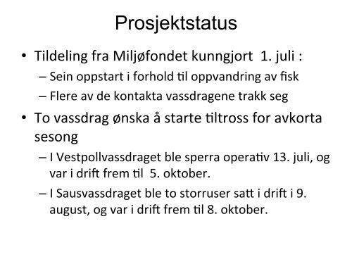 Sperrevassdrag i Nordland - FHL
