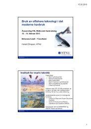 Bruk av offshore teknologi i det moderne havbruk - FHL