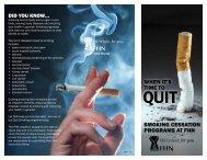 SMOKING CESSATION PROGRAMS AT FHN