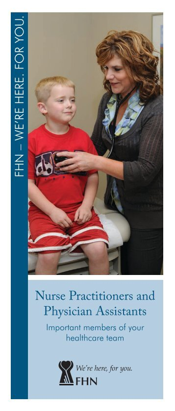 Download FHN Nurse Practitioners and Physician Assistants brochure