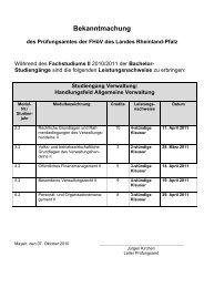Studiengang Verwaltung: - Fachhochschule für öffentliche Verwaltung
