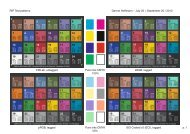 (ECI), tagged RIP Test patterns Pure inks 50% Pure inks 00% Gerno