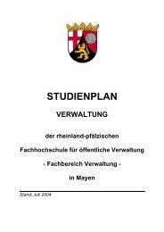 Studienplan Verwaltung - Fachhochschule für öffentliche Verwaltung
