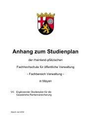 Studienplan LVA - Fachhochschule für öffentliche Verwaltung