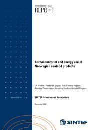 Carbon footprint and energy use of Norwegian seafood ... - Laksefakta