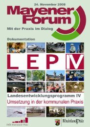 Dokumentation Mayener Forum - Fachhochschule für öffentliche ...