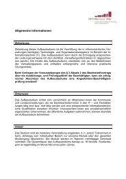 Allgemeine Informationen - Fachhochschule für öffentliche Verwaltung