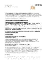 Hochschulabsolventen/innen (Diplom (FH) oder Bachelor)