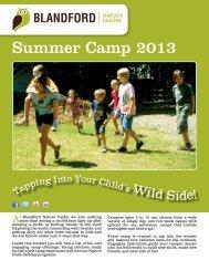 Summer Camp 2013 - Blandford Nature Center