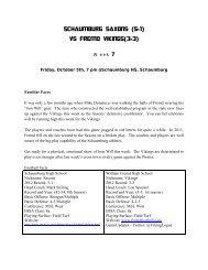 Schaumburg saxons (5-1) - William Fremd High School
