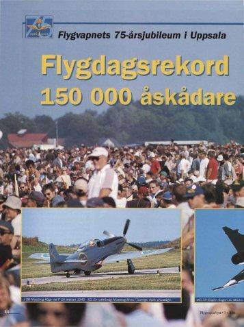 ~ Flygvapnets 75-årsjubileum i Uppsala