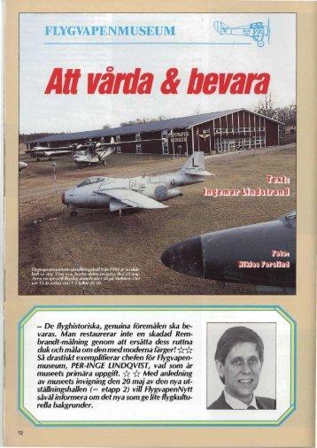 Flygvapenmuseum. Att vårda och bevara - Försvarets Historiska ...