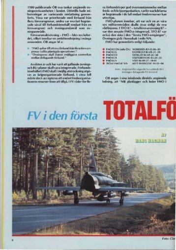 FV i den första totalförsvarsövningen, TFÖ 87