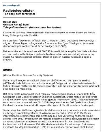 Morsetelegrafi - Försvarets Historiska Telesamlingar,FHT