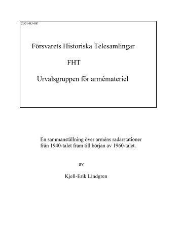 Radarutveckling inom armén - Försvarets Historiska Telesamlingar ...
