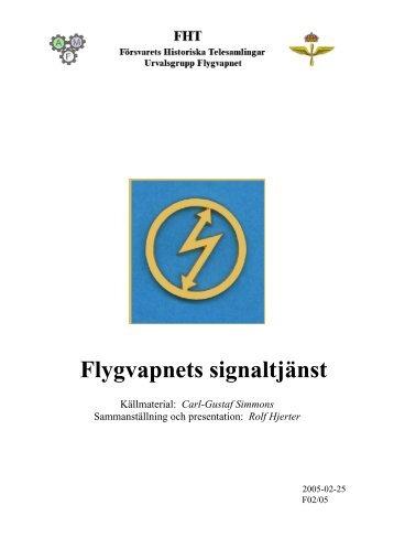 Flygvapnets signaltjänst - Försvarets Historiska Telesamlingar,FHT