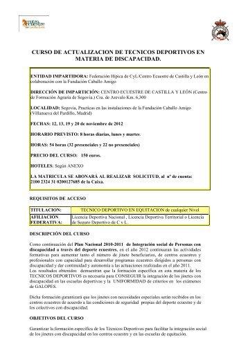 curso de actualizacion de tecnicos deportivos en materia de ...