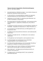 Themen betreuter Hausarbeiten (Bachelorstudiengang) (Prof. Dr ...