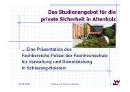 Das Studienangebot - FHVD - Fachhochschule für Verwaltung und ...