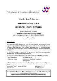 Prof. Dr. Klaus G. Schmidt - FHVD - Fachhochschule für Verwaltung ...