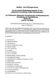Studien- und Prüfungsordnung (StuPo AV) - FHVD ...