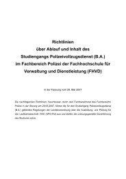 BA - FHVD - Fachhochschule für Verwaltung und Dienstleistung