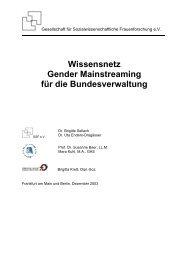 Wissensnetz Gender Mainstreaming für die Bundesverwaltung