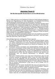 Altenholzer Thesen (3) Die Bundesrepublik Deutschland und ihre ...