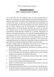 Altenholzer Thesen (1) Folter – Heiligt der Zweck die Mittel?