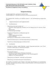 Tätigkeitenkatalog Öffentliche Sicherheit und Ordnung ... - FHVR AIV