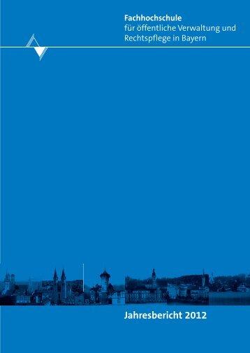 Jahresbericht 2012 FHVR - Fachhochschule für öffentliche ...