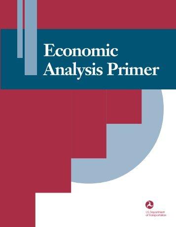 Economic Analysis Primer - About - U.S. Department of Transportation