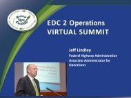 Operations Summit slides - Federal Highway Administration